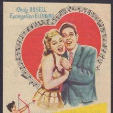 Cine: PROGRAMA SENCILLO DE MI CANCIÓN ERES TÚ (1956) - IDEAL CINEMA DE ELCHE. Lote 200549045