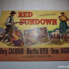 Cine: MAGNIFICO PROGRAMA CINE O PEQUEÑO CARTEL CON DOS PELICULAS RED SUNDOWN. Lote 200590182