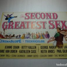 Cine: MAGNIFICO PROGRAMA CINE O PEQUEÑO CARTEL THE SECOND GREATEST SEX. Lote 200590578