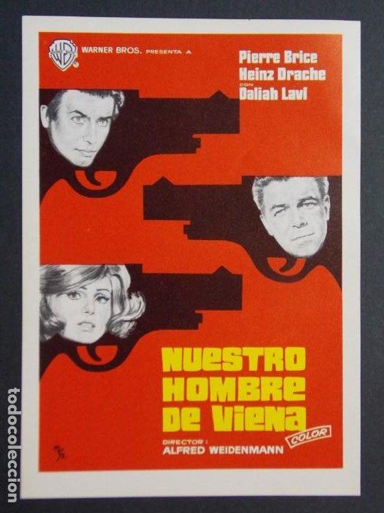 NUESTRO HOMBRE DE VIENA - AÑO 1965 - FOLLETO - PROGRAMA CINE - PIERRE BRICE ..L810 (Cine - Folletos de Mano - Acción)