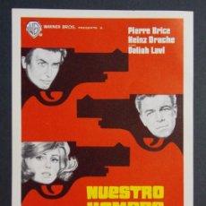 Cine: NUESTRO HOMBRE DE VIENA - AÑO 1965 - FOLLETO - PROGRAMA CINE - PIERRE BRICE ..L810. Lote 200895025
