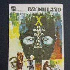Cine: EL HOMBRE CON RAYOS X EN LOS OJOS - AÑO 1965 - FOLLETO - PROGRAMA CINE - RAY MILLAND ..L814. Lote 200896146