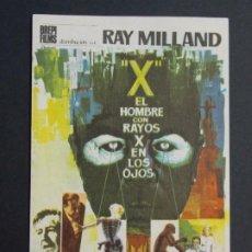 Cine: EL HOMBRE CON RAYOS X EN LOS OJOS - AÑO 1965 - FOLLETO - PROGRAMA CINE - RAY MILLAND ..L815. Lote 200896298