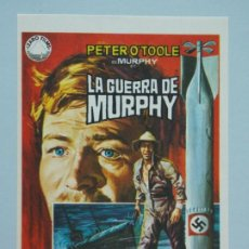 Cine: LA GUERRA DE MURPHY - AÑO 1971 - FOLLETO - PROGRAMA CINE - PETER O'TOOLE - DIBUJANTE JANO - ..L840. Lote 201132107