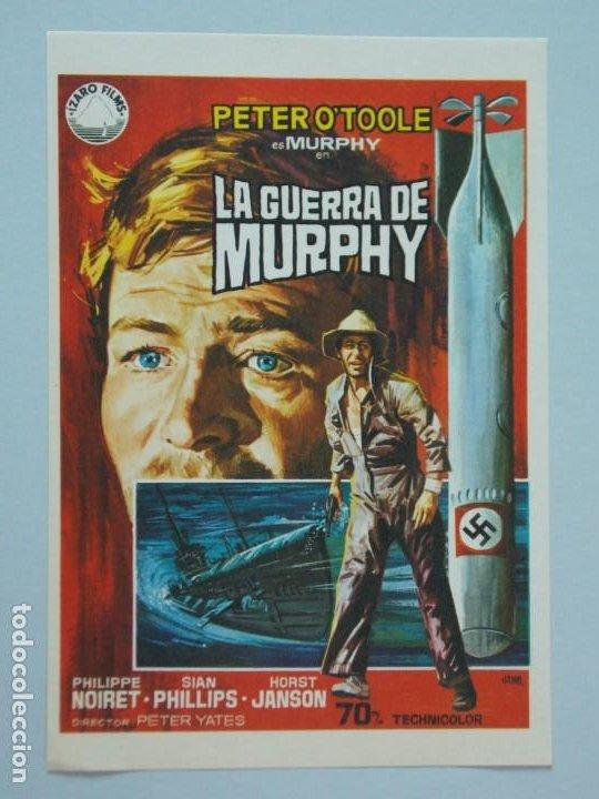 LA GUERRA DE MURPHY - AÑO 1971 - FOLLETO - PROGRAMA CINE - PETER O'TOOLE - DIBUJANTE JANO - ..L841 (Cine - Folletos de Mano - Bélicas)