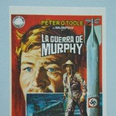 Cine: LA GUERRA DE MURPHY - AÑO 1971 - FOLLETO - PROGRAMA CINE - PETER O'TOOLE - DIBUJANTE JANO - ..L841. Lote 201132277