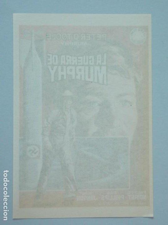 Cine: LA GUERRA DE MURPHY - AÑO 1971 - FOLLETO - PROGRAMA CINE - PETER OTOOLE - DIBUJANTE JANO - ..L841 - Foto 2 - 201132277