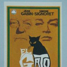 Cine: EL GATO - AÑO 1971 - FOLLETO - PROGRAMA CINE - JEAN GABIN - DIBUJANTE JANO - ..L842. Lote 201132476