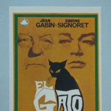 Cine: EL GATO - AÑO 1971 - FOLLETO - PROGRAMA CINE - JEAN GABIN - DIBUJANTE JANO - ..L843. Lote 201132541