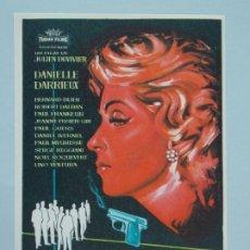 Cine: CENA DE ACUSADOS - AÑO 1960 - FOLLETO - PROGRAMA CINE - DANIELLE DARRIEUX - ..L844. Lote 201132866