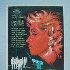 Cine: CENA DE ACUSADOS - AÑO 1960 - FOLLETO - PROGRAMA CINE - DANIELLE DARRIEUX - ..L845. Lote 201132903