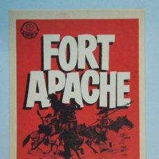 Cine: FORT APACHE - AÑO 1950 - FOLLETO - PROGRAMA CINE - JOHN WAYNE - HENRY FONDA - ..L852. Lote 201134600
