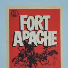 Cine: FORT APACHE - AÑO 1950 - FOLLETO - PROGRAMA CINE - JOHN WAYNE - HENRY FONDA - ..L853. Lote 201134667