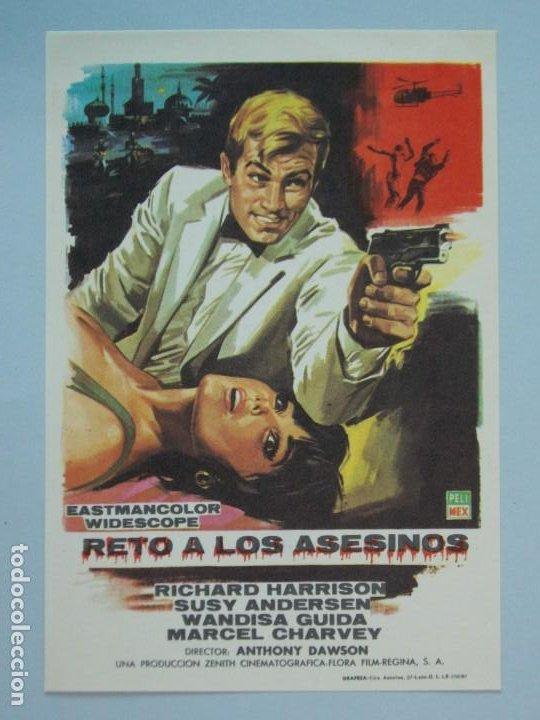 RETO A LOS ASESINOS - AÑO 1967 - FOLLETO - PROGRAMA CINE - RICHARD HARRISON - ..L854 (Cine - Folletos de Mano - Acción)