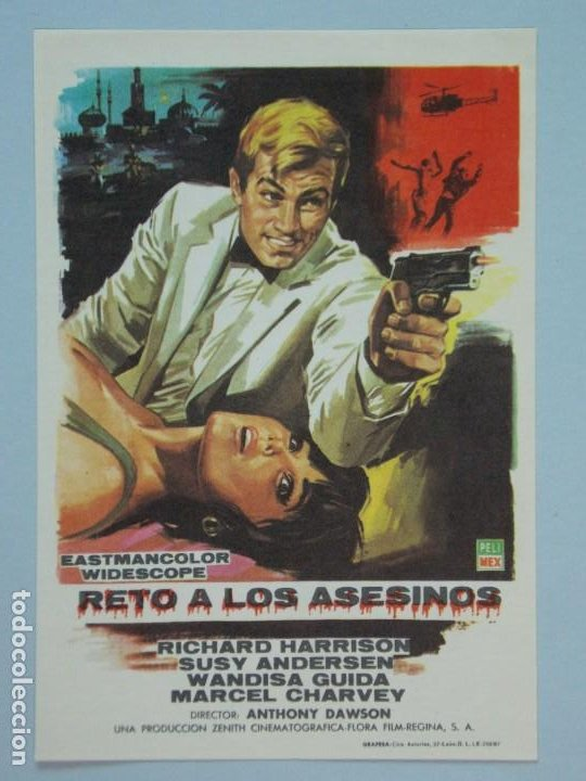 RETO A LOS ASESINOS - AÑO 1967 - FOLLETO - PROGRAMA CINE - RICHARD HARRISON - ..L855 (Cine - Folletos de Mano - Acción)