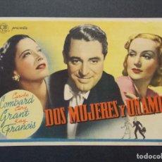 Cine: DOS MUJERES Y UN AMOR - AÑO 1939 - FOLLETO - PROGRAMA CINE PRINCIPAL - GRANOLLERS - BARCELONA .L862. Lote 201143662