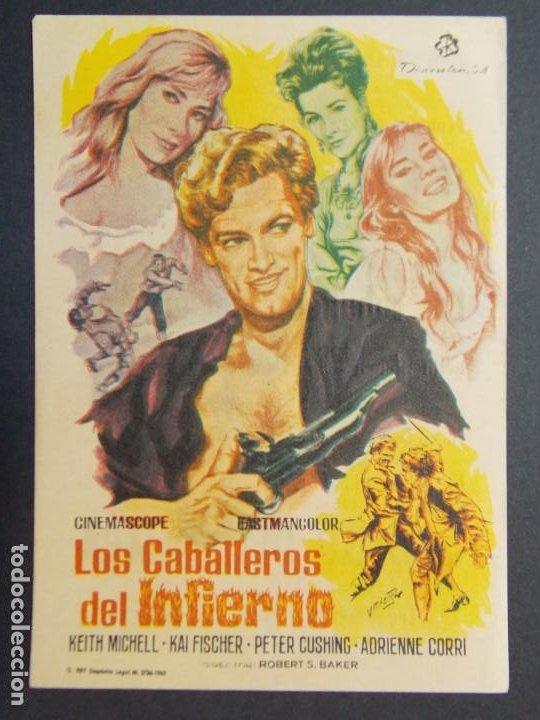 Cine: LOS CABALLEROS DEL INFIERNO - AÑO 1965 - FOLLETO - PROGRAMA CINE CIRCUITO DE CINES DE SANTS ..L866 - Foto 2 - 201145115