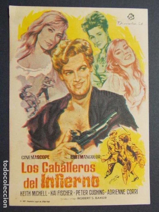 LOS CABALLEROS DEL INFIERNO - AÑO 1965 - FOLLETO - PROGRAMA CINE CIRCUITO DE CINES DE SANTS ..L867 (Cine - Folletos de Mano - Acción)