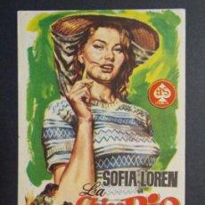 Cine: LA CHICA DEL RIO - SOFIA LOREN - FOLLETO - PROGRAMA CINE PRINCIPAL - LA POBLA ..L871. Lote 201147003