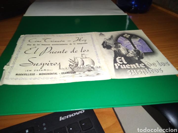 PROGRAMA DE CINE DOBLE. EL PUENTE DE LOS SUSPIROS. CINE TRIANÓN DE LEÓN (Cine - Folletos de Mano - Clásico Español)
