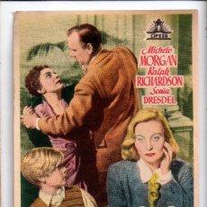 Cine: EL IDOLO CAIDO. MICHLE MORGAN.. CINE PRINCIPAL GRANOLLERS 1950. Lote 201752028