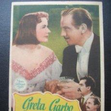 Folhetos de mão de filmes antigos de cinema: NINOTCHKA, GRETA GARBO. Lote 202263016