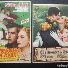 Flyers Publicitaires de films Anciens: EL PRISIONERO DE ZENDA, RONALD COLMAN, MADELEINE CARROLL, STEWART GRANGER, DEBORAH KERR. Lote 202405106