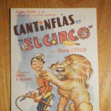 Cine: FOLLETO DE MANO CINE - PELÍCULA FILM - LARGOMETRAJE - CANTINFLAS EN EL CIRCO - CAPITOL, METROPOL. Lote 202448082