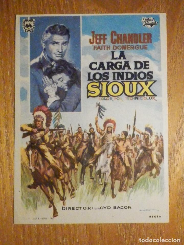 FOLLETO DE MANO CINE - PELÍCULA FILM - LARGOMETRAJE - LA CARGA DE LOS INDIOS SIOUX (Cine - Folletos de Mano - Westerns)