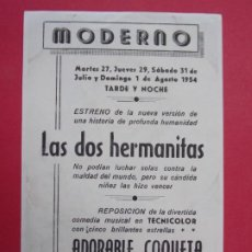 Cine: ADORABLE COQUETA - AÑO 1954 - FOLLETO - PROGRAMA CINE MODERNO -TARRAGONA...L906. Lote 202549092