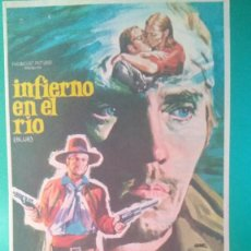 """Cine: FOLLETO DE MANO """"INFIERNO EN EL RIO - TERENCE STAMP, KARL MALDEN, RICARDO MONTALBÁN. Lote 202577355"""