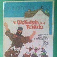 Cine: FOLLETO DE EL VIOLINISTA EN EL TEJADO (TOPOL - NORMA CRANE - LEONARD FREY - MOLLY PICON - PAUL MANN). Lote 202581065