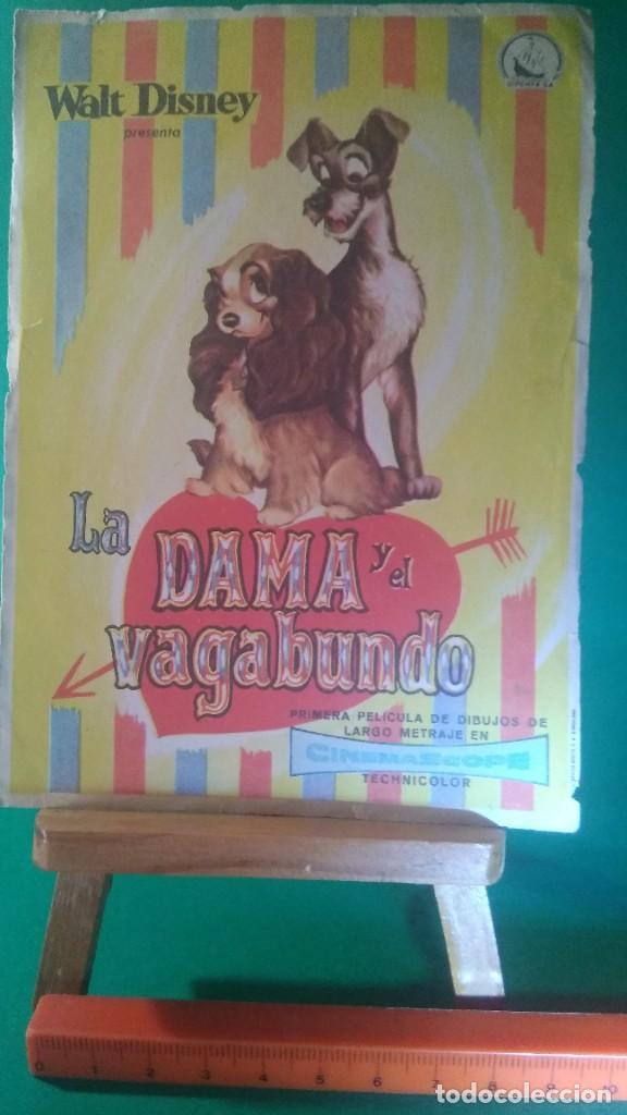FOLLETO DE MANO LA DAMA Y EL VAGABUNDO - WALT DISNEY - ORIGINAL (Cine - Folletos de Mano - Infantil)