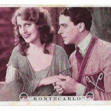 Foglietti di film di film antichi di cinema: MONTECARLO - JACK BUCHANAN - JEANETTE MACDONALD - SALA TRIANÓN RUBÍ - 1930. Lote 202603437