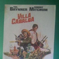 "Cine: FOLLETO DE MANO "" VILLA CABALGA "" 1968 - YUL BRYNNER, ROBERT MITCHUM, CHARLES BRONSON.... Lote 202641590"