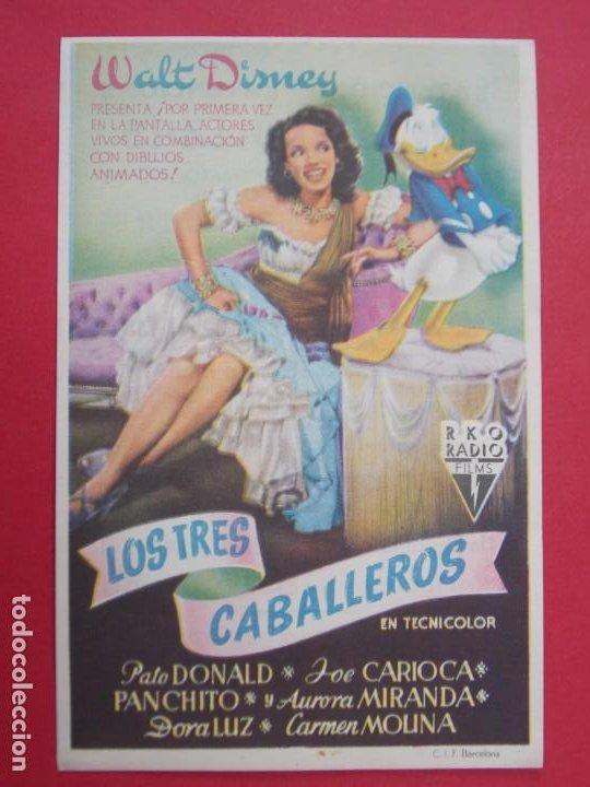 Cine: LOS TRES CABALLEROS - AÑO 1947 - FOLLETO - PROGRAMA CINE PRINCIPAL - GRANOLLERS...L920 - Foto 2 - 202641620