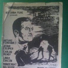 "Cine: FOLLETO DE MANO "" DISTRITO QUINTO "" 1957 - ARTURO FERNANDEZ. Lote 202641963"