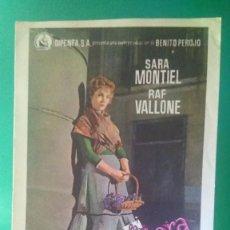 """Cine: FOLLETO DE MANO """" LA VIOLETERA"""" 1958 - SARA MONTIEL, RAF VALLONE -ESTADO PERFECTO. Lote 202650243"""