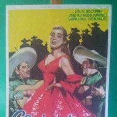 """Cine: FOLLETO DE MANO """"CAMINO DE GUANAJUATO """" 1957 LOLA BELTRÁN, JOSÉ ALFREDO JIMÉNEZ-ESTADO PERFECTO. Lote 202653180"""