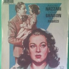 "Cine: FOLLETO DE MANO ""VUELVE A MI VIDA"" 1954 - AMEDEO NAZZARI, YVONNE SANSON-ESTADO PERFECTO. Lote 202653661"