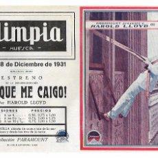 Cine: ¡ AY , QUE ME CAIGO ! - HAROLD LLOYD - 1931. Lote 202659000