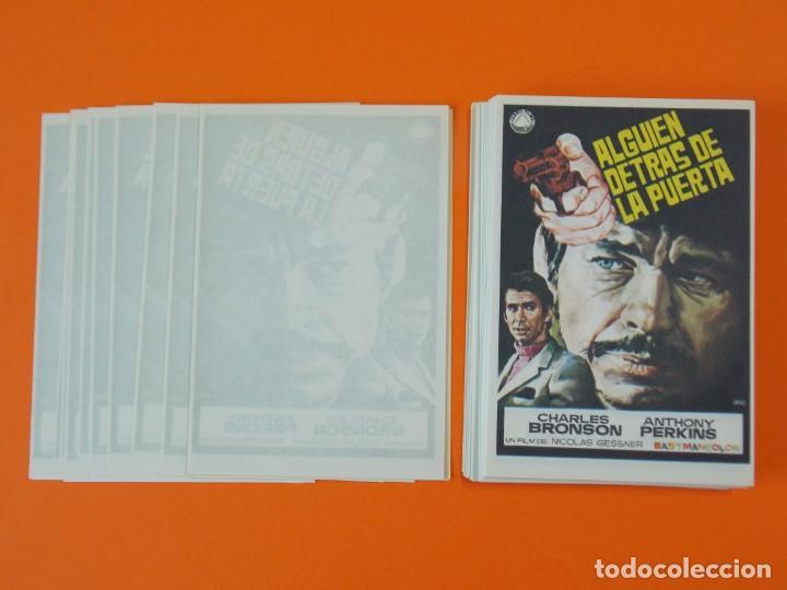 Cine: LOTE DE 100 FOLLETOS PROGRAMA CINE - ALGUIEN DETRAS DE LA PUERTA - AÑO 1970 - DIBUJANTE JANO ..L936 - Foto 2 - 202680237