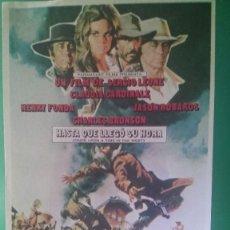 """Cine: FOLLETO DE MANO""""HASTA QUE LLEGÓ SU HORA"""" 968-H.FONDA, CH.BRONSON,CLAUDIACARDINALE-ESTADO PERFECTO. Lote 202746413"""