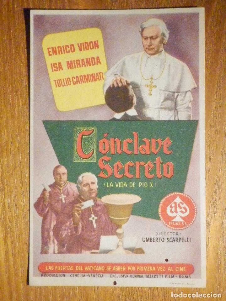 FOLLETO DE MANO CINE - PELÍCULA FILM - LARGOMETRAJE - CONCLAVE SECRETO (Cine - Folletos de Mano - Drama)