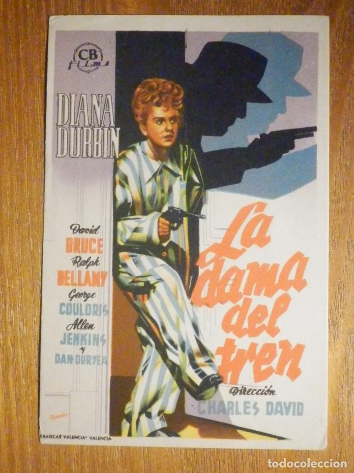 FOLLETO DE MANO CINE - PELÍCULA FILM - LARGOMETRAJE - LA DAMA DEL TREN (Cine - Folletos de Mano - Drama)