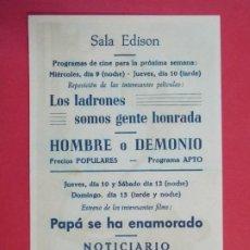 Cine: LA FIEL INFANTERIA - AÑO 1960 - FOLLETO - SALA EDISON - FIGUERES, GERONA...L939. Lote 202805148