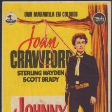 Folhetos de mão de filmes antigos de cinema: PROGRAMA SENCILLO DE JOHNNY GUITAR (1954) - CINE LÍRICO-BALEAR PROGRESO DE PALMA DE MALLORCA. Lote 202824861