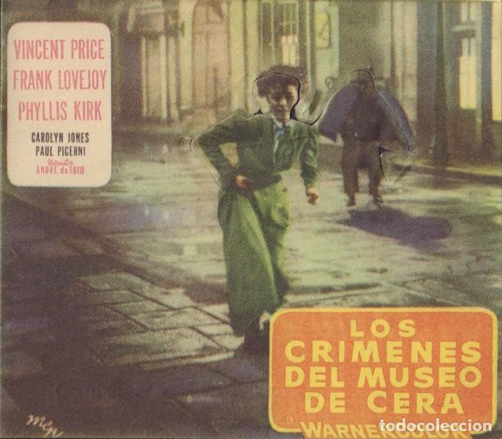 PROGRAMA TROQUELADO DE LOS CRÍMENES DEL MUSEO DE CERA (1953) - CINE MONTERROSA DE REUS (Cine - Folletos de Mano - Terror)