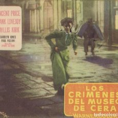 Cine: PROGRAMA TROQUELADO DE LOS CRÍMENES DEL MUSEO DE CERA (1953) - CINE MONTERROSA DE REUS. Lote 202825243