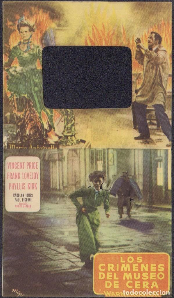 Cine: Programa troquelado de LOS CRÍMENES DEL MUSEO DE CERA (1953) - Cine Monterrosa de Reus - Foto 2 - 202825243